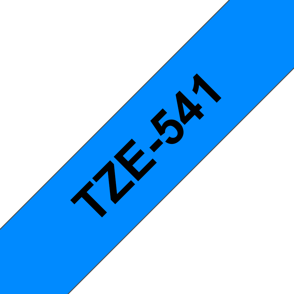 Originele Brother TZe-541 label tapecassette – zwart op blauw, breedte 18 mm