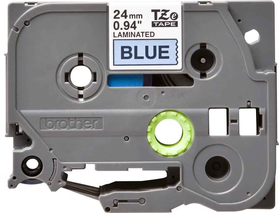 Originele Brother TZe-551 label tapecassette – zwart op blauw, breedte 24 mm 2