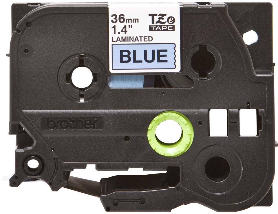 Originele Brother TZe-561 label tapecassette – zwart op blauw, breedte 36 mm 2