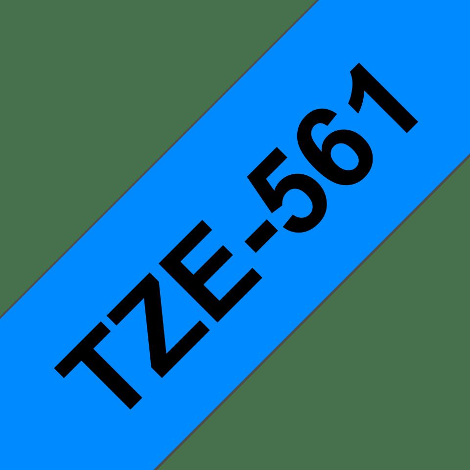 Originele Brother TZe-561 label tapecassette – zwart op blauw, breedte 36 mm