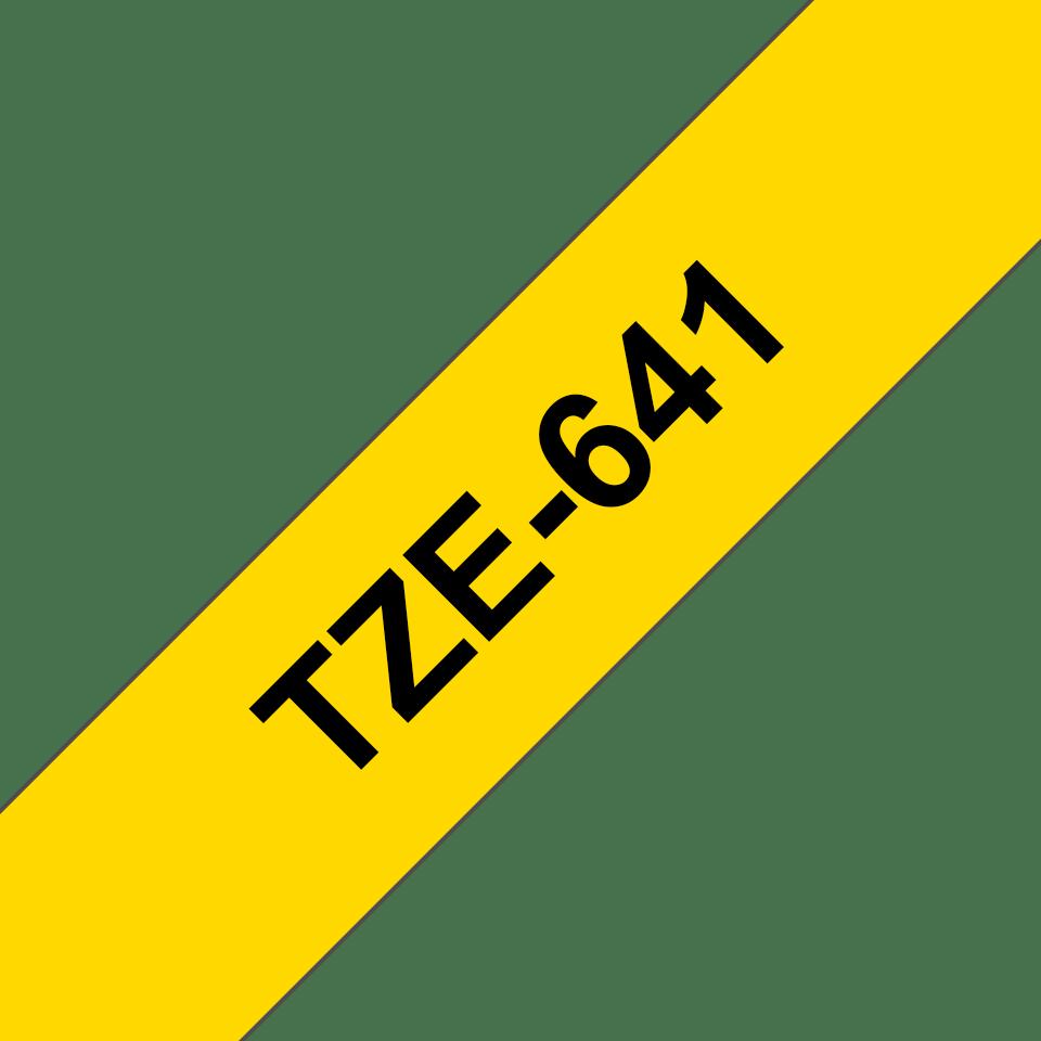 Originele Brother TZe-641 label tapecassette – zwart op geel, breedte 18 mm
