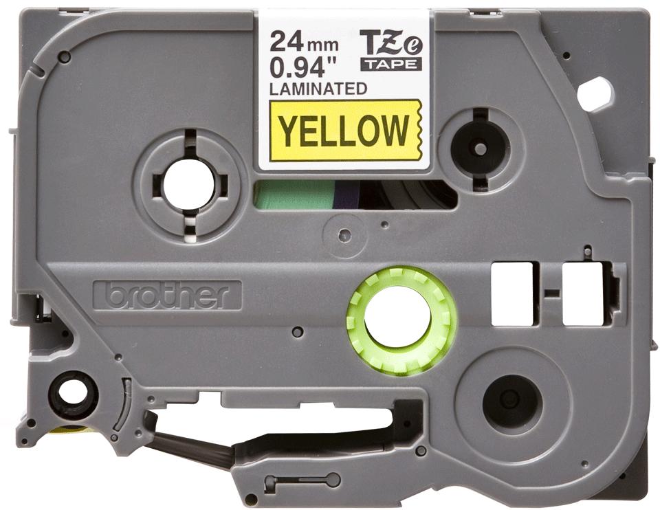 Originele Brother TZe-651 label tapecassette – zwart op geel, breedte 24 mm 2