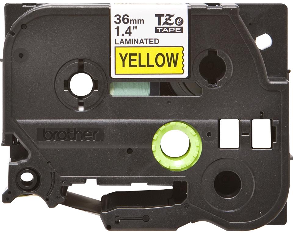Originele Brother TZe-661 label tapecassette – zwart op geel, breedte 36 mm 2