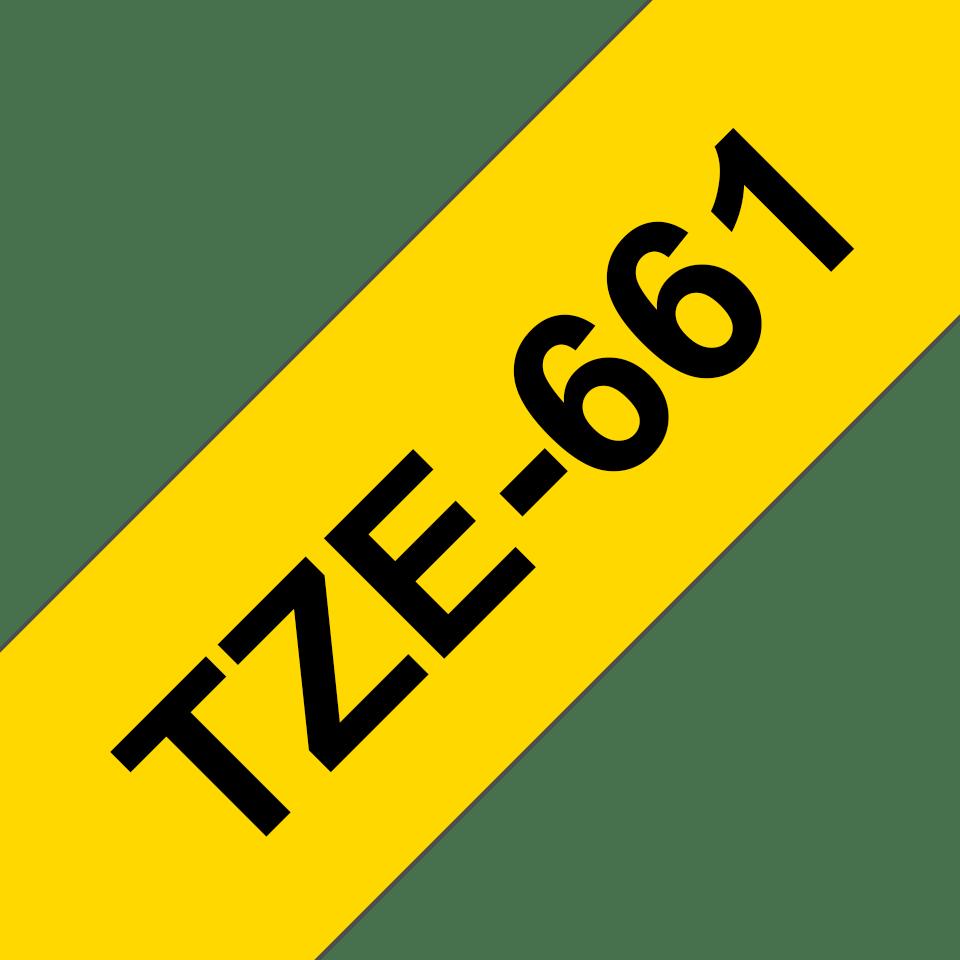 Originele Brother TZe-661 label tapecassette – zwart op geel, breedte 36 mm