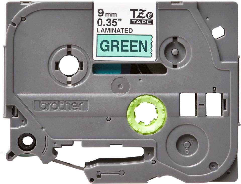 Originele Brother TZe-721 label tapecassette – zwart op groen, breedte 9 mm