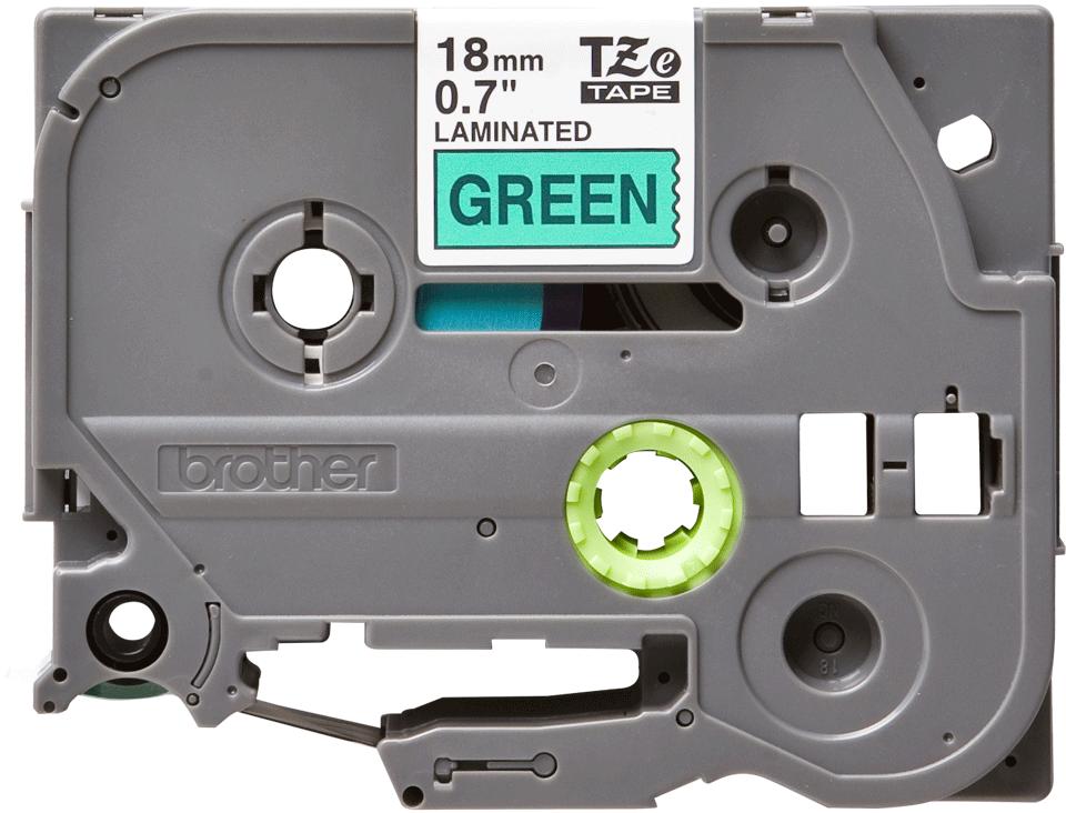 Originele Brother TZe-741 label tapecassette – zwart op groen, breedte 18 mm