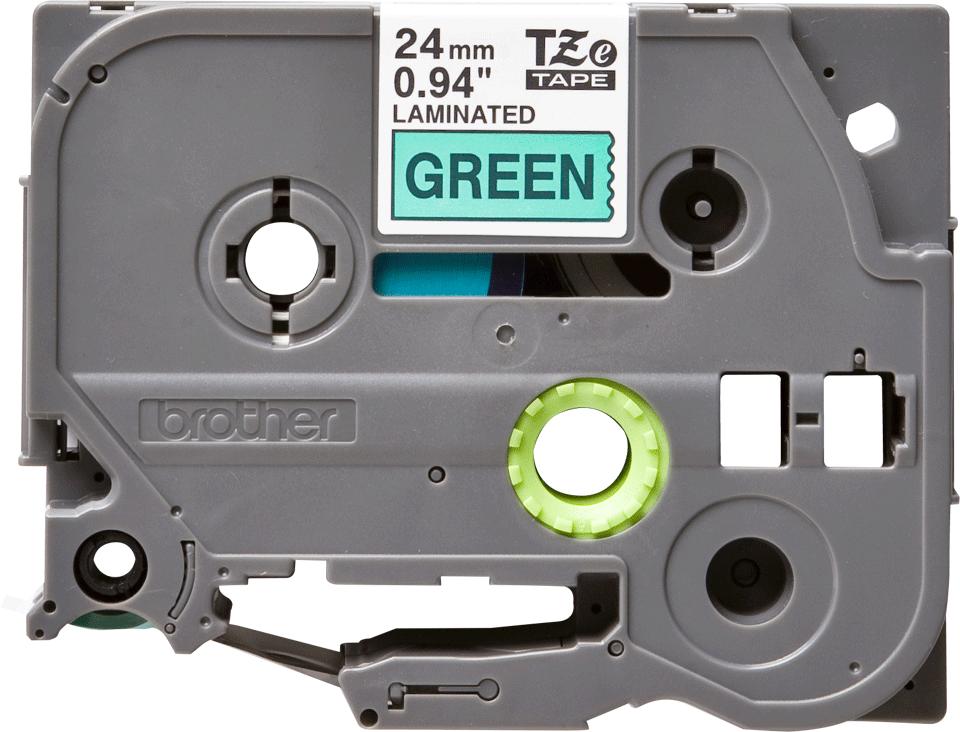 Originele Brother TZe-751 label tapecassette – zwart op groen, breedte 24 mm 2