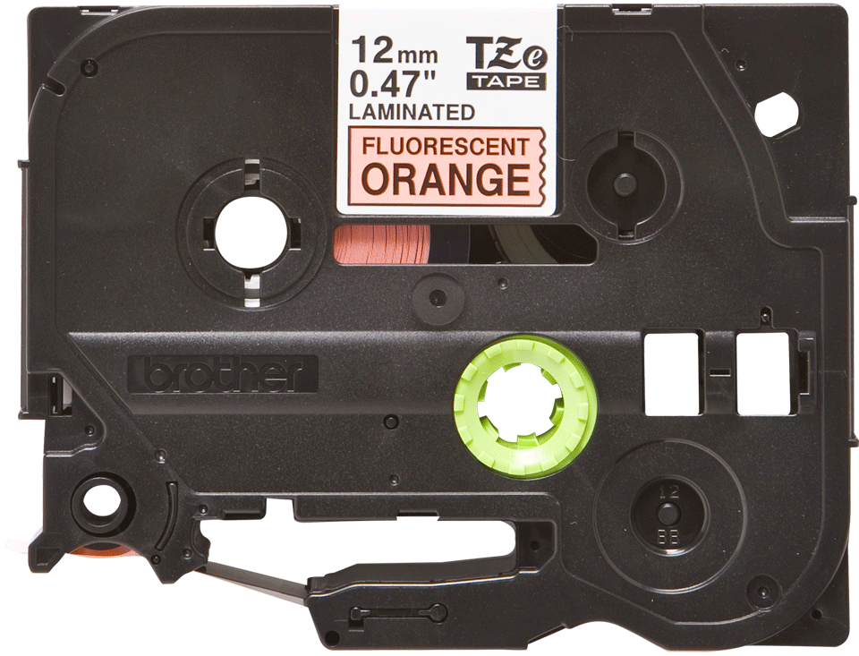 Originele Brother TZe-B31 tapecassette – fluorescerend oranje, breedte 12 mm 2