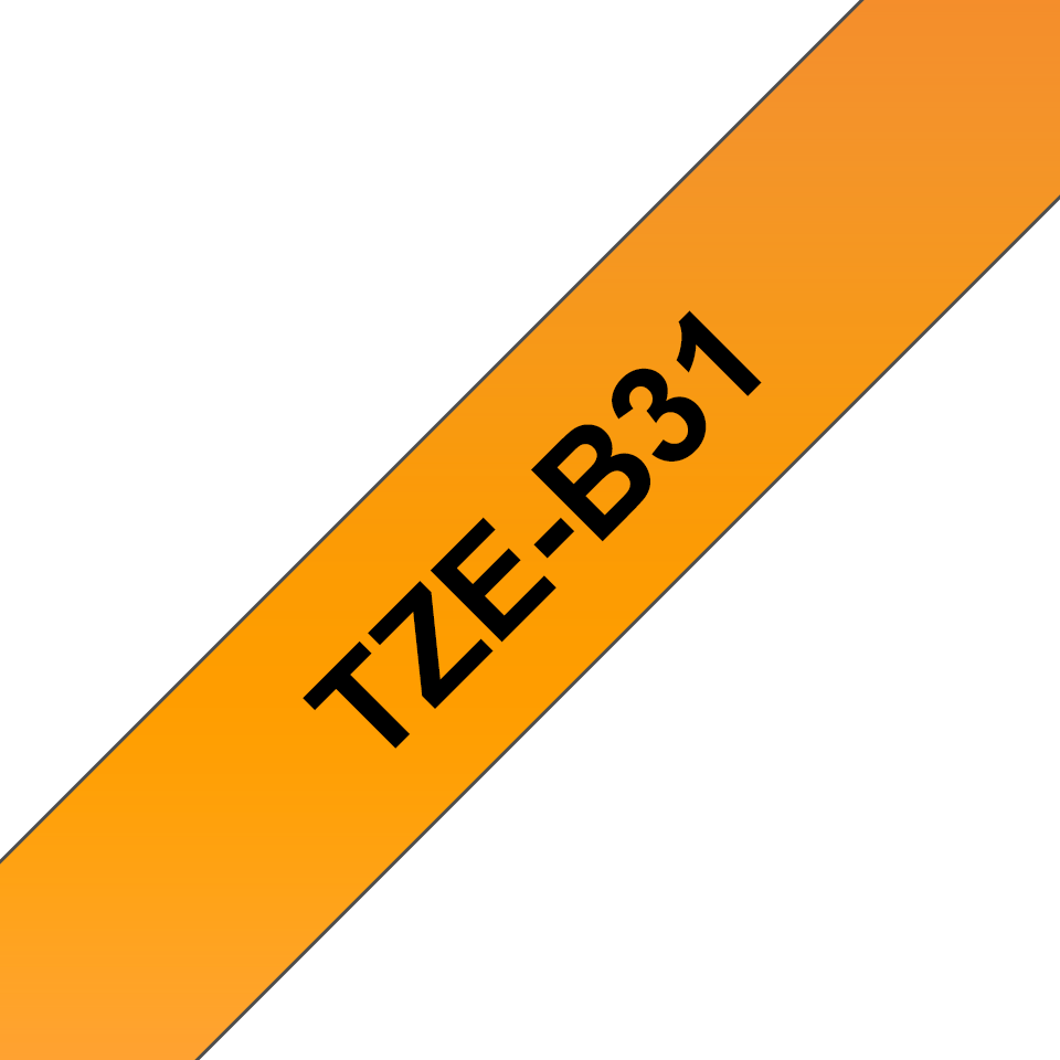 Originele Brother TZe-B31 tapecassette – fluorescerend oranje, breedte 12 mm