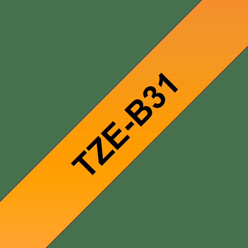 Originele Brother TZe-B31 tapecassette – fluorescerend oranje, breedte 12 mm