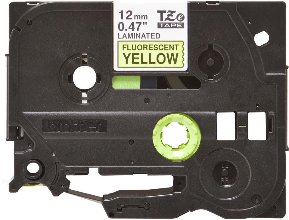 Originele Brother TZe-C31 label tapecassette – zwart op fluorescerend geel, breedte 12 mm 2