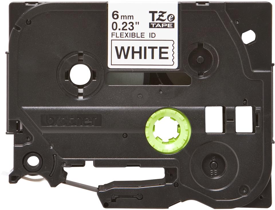Originele Brother TZe-FX211 flexibele ID label tapecassette – zwart op wit, breedte 6 mm 2