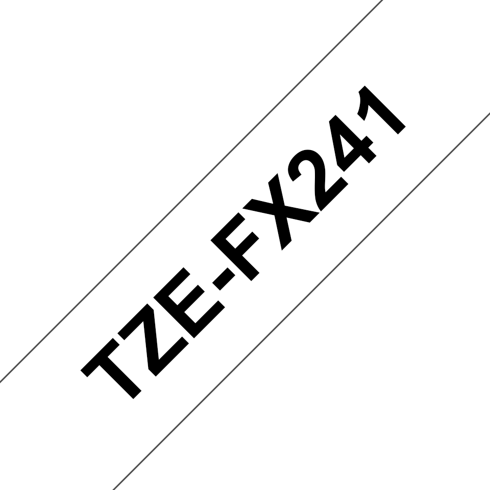 Originele Brother TZe-FX241 flexibele ID label tapecassette – zwart op wit, breedte 18 mm