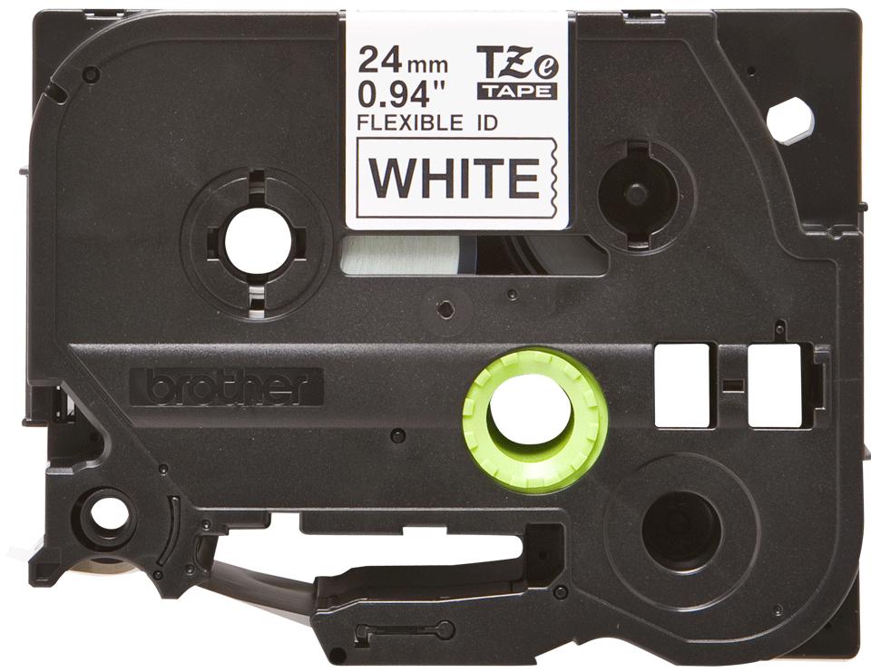 Originele Brother TZe-FX251 flexibele ID label tapecassette – zwart op wit, breedte 24 mm 2