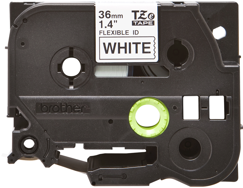 Originele Brother TZe-FX261 flexibele ID label tapecassette – zwart op wit, breedte 36 mm 2