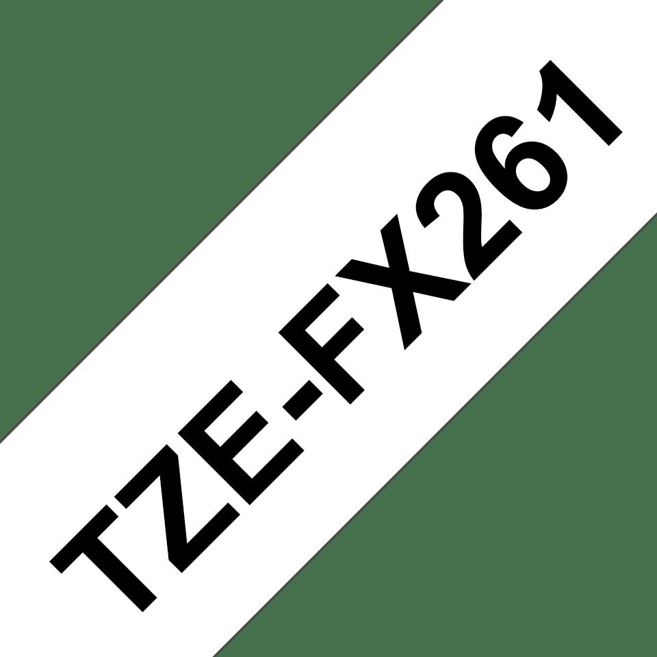 Originele Brother TZe-FX261 flexibele ID label tapecassette – zwart op wit, breedte 36 mm