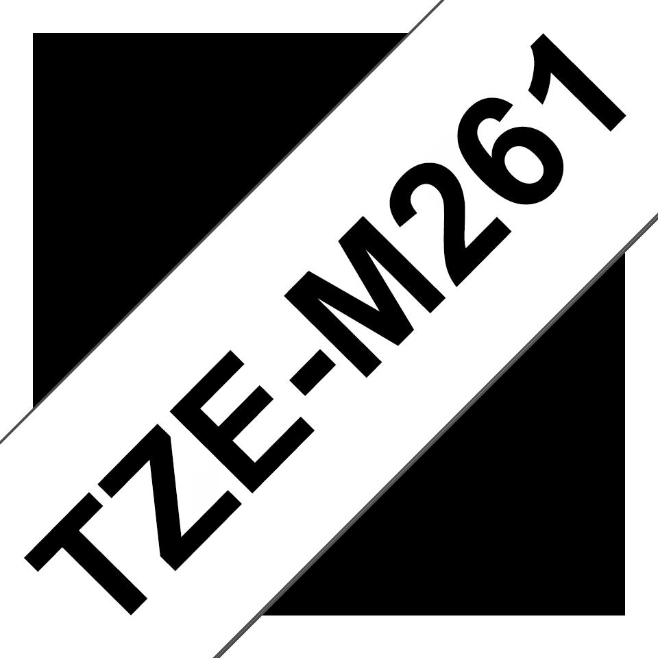 TZe-M261 mat gelamineerde labeltape zwart op wit – breedte 36 mm 3
