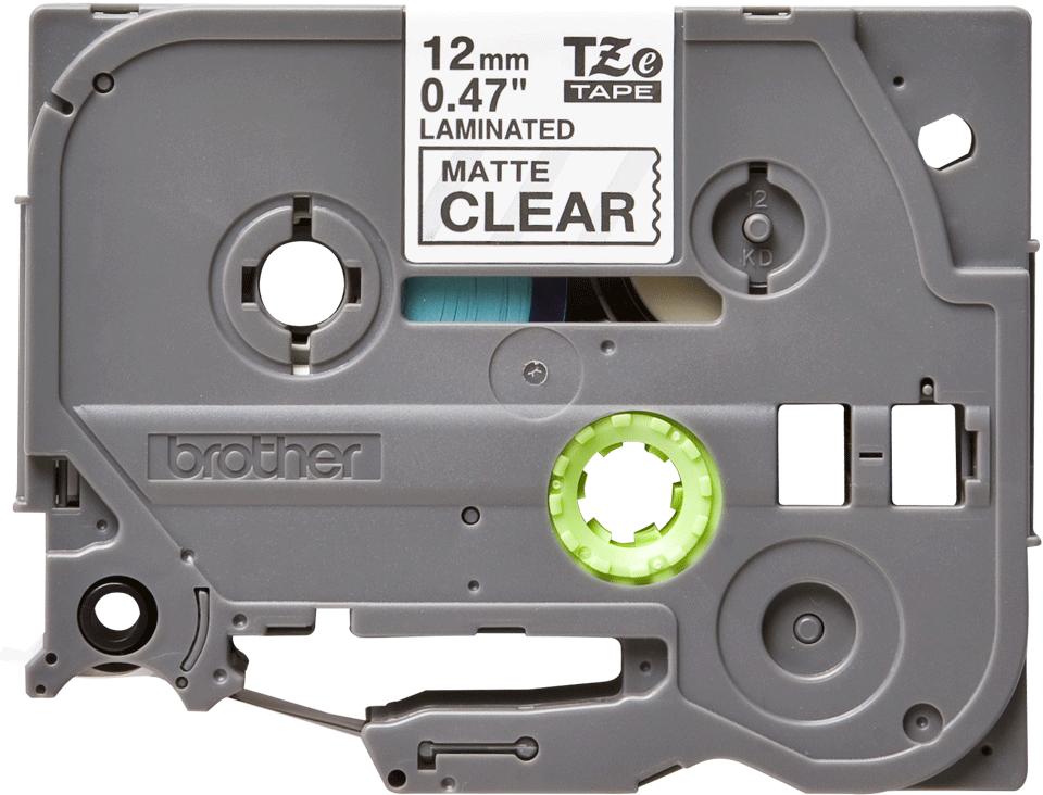 Originele Brother TZe-M31 label tapecassette – zwart op mat transparant, breedte 12 mm 2