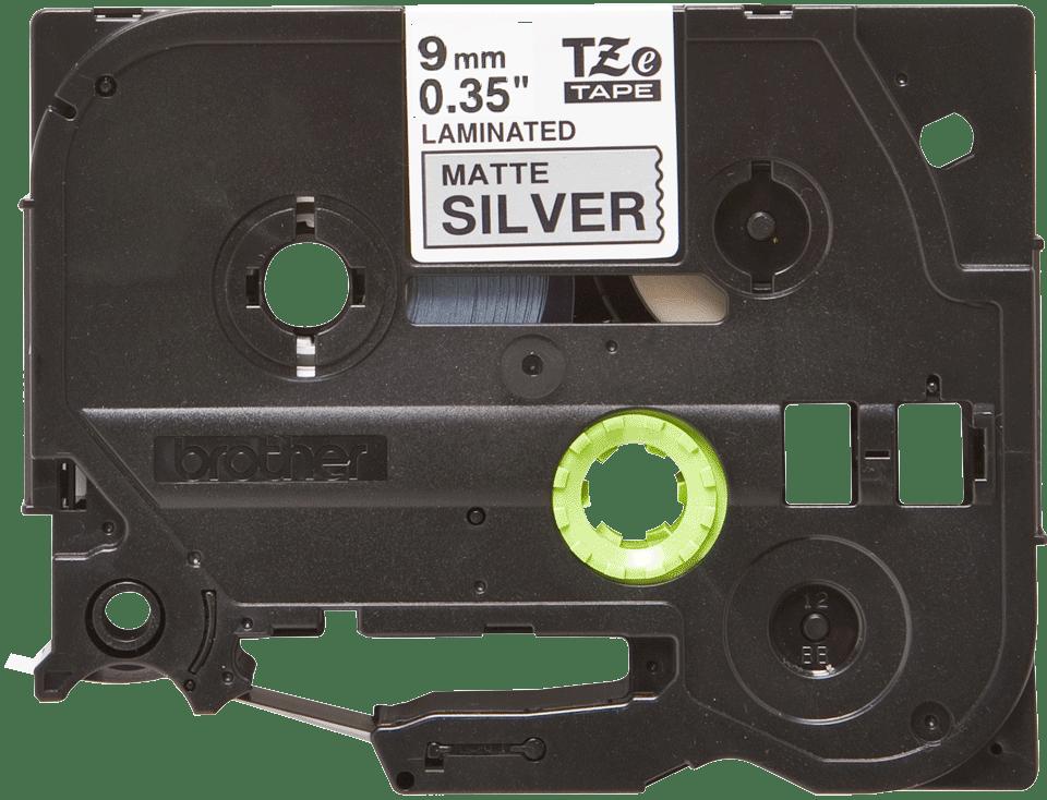 Originele Brother TZe-M921 label tapecassette – zwart op mat zilver, breedte 9 mm