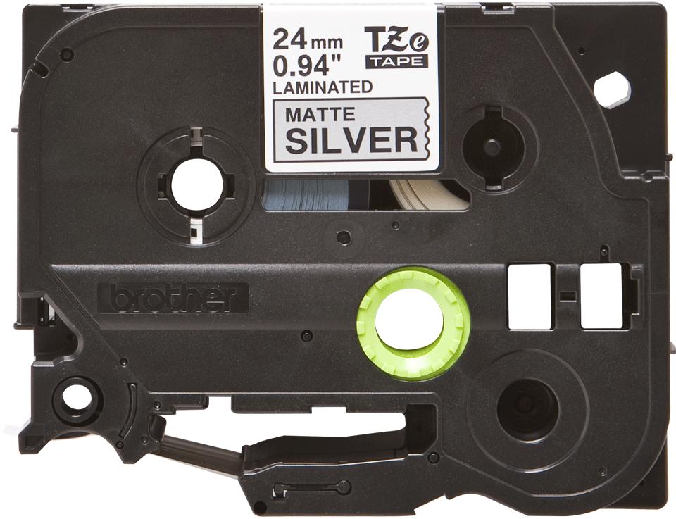 Originele Brother TZe-M951 tapecassette – zwart op mat zilver, breedte 24 mm 2