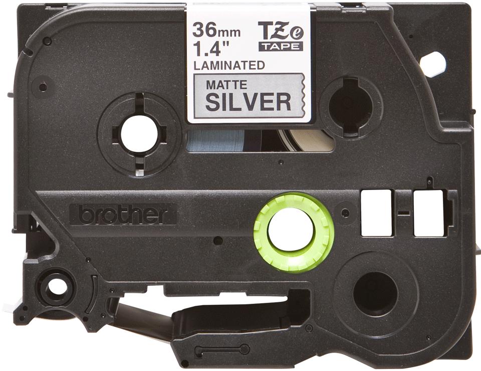 Originele Brother TZe-M961 label tapecassette – zwart op mat zilver, breedte 36 mm 2