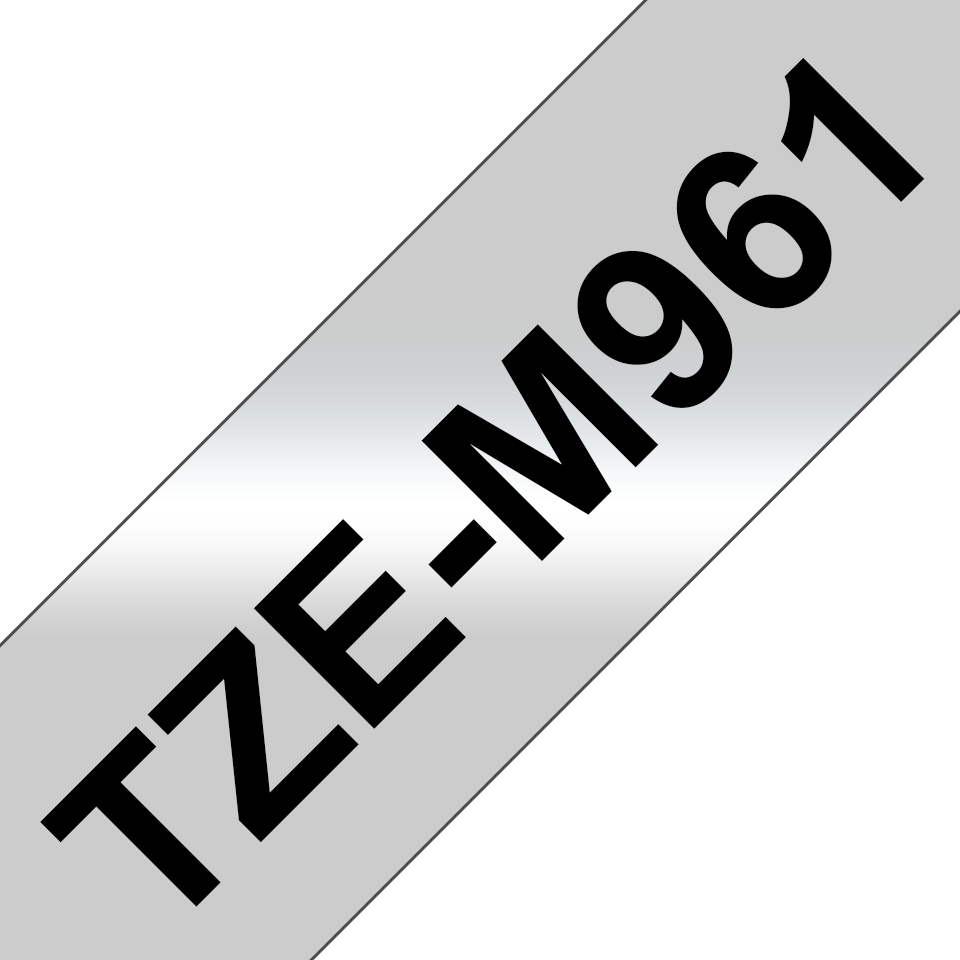 Originele Brother TZe-M961 label tapecassette – zwart op mat zilver, breedte 36 mm