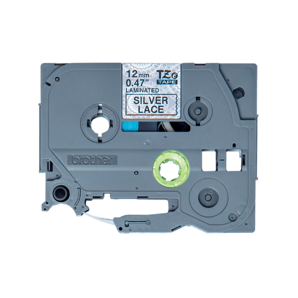 Originele Brother TZe-MPSL31 label tapecassette – zwart op zilver kant patroon, breedte 12 mm 2