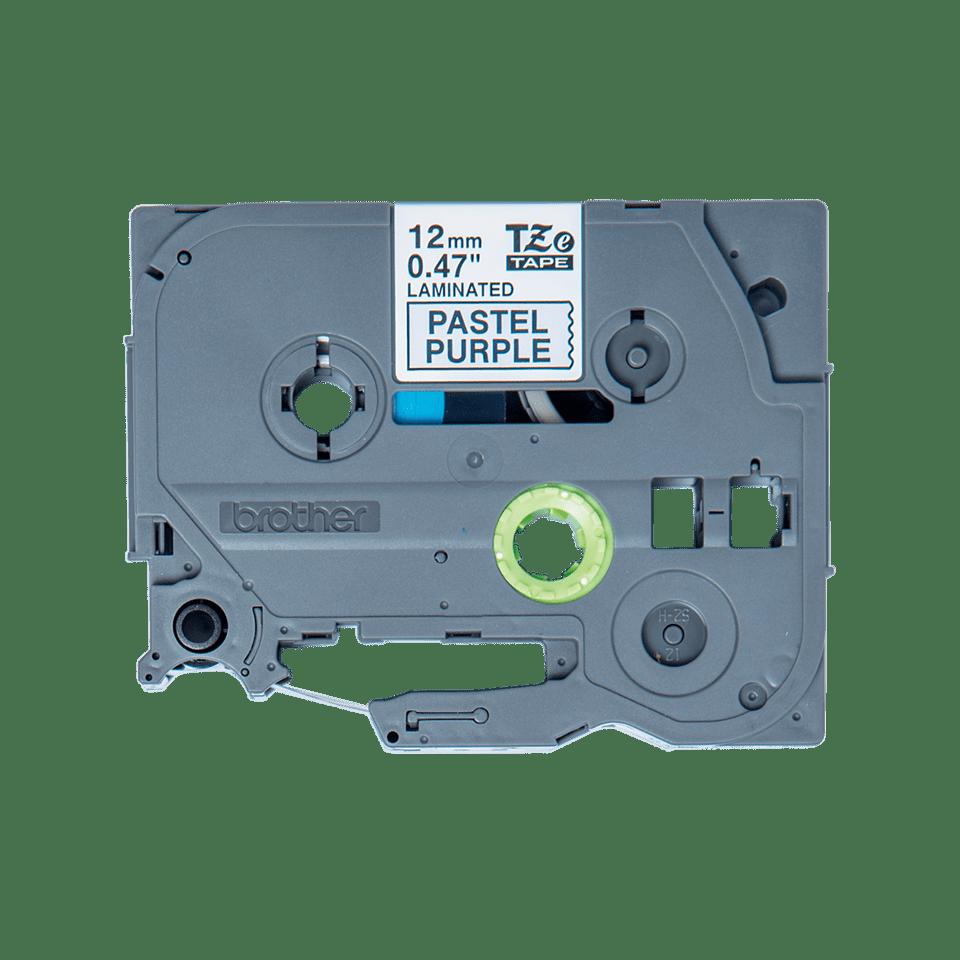 Originele Brother TZe-MQF31 label tapecassette – zwart op pastel paars, breedte 12 mm