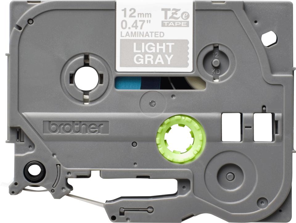 Originele Brother TZe-MQL35 labeltape – wit op grijs, breedte 12 mm