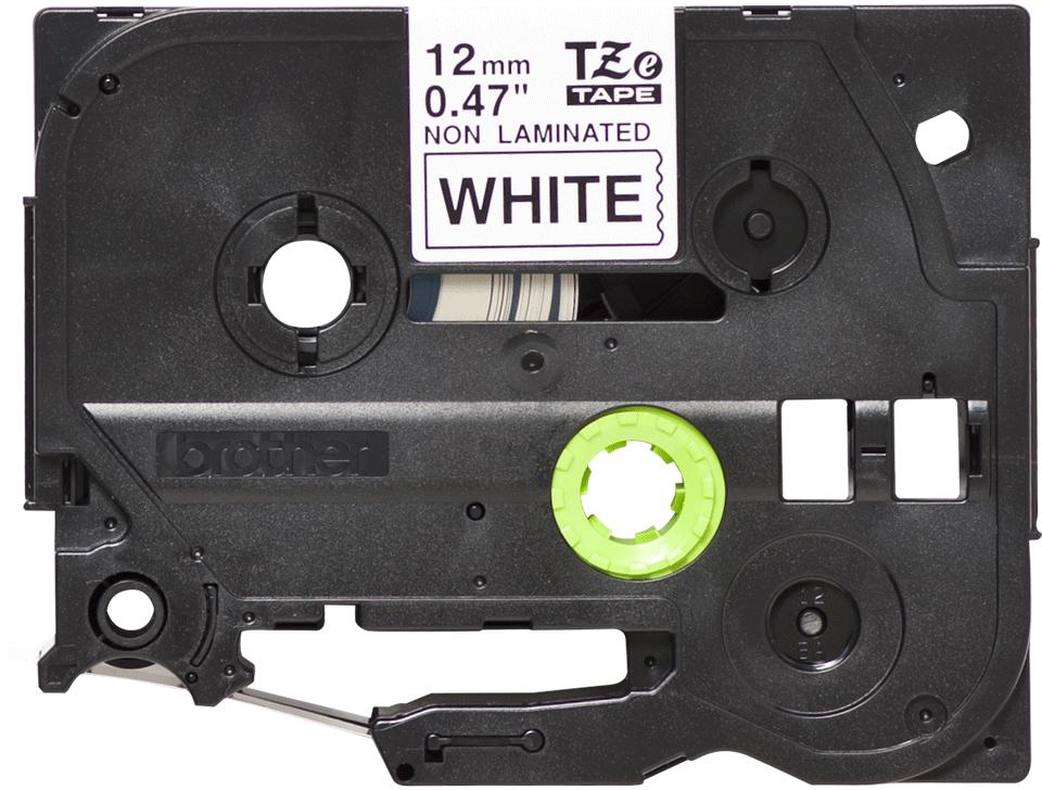 Originele Brother TZe-N231 tapecassette – zwart op wit, breedte 12 mm