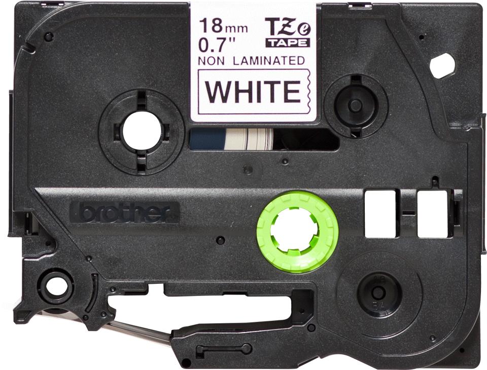 Originele Brother TZe-N241 label tapecassette – zwart op wit, breedte 18 mm