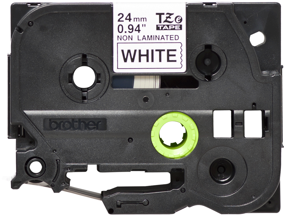 Originele Brother TZe-N251 label tapecassette – zwart op wit, breedte 24 mm 2