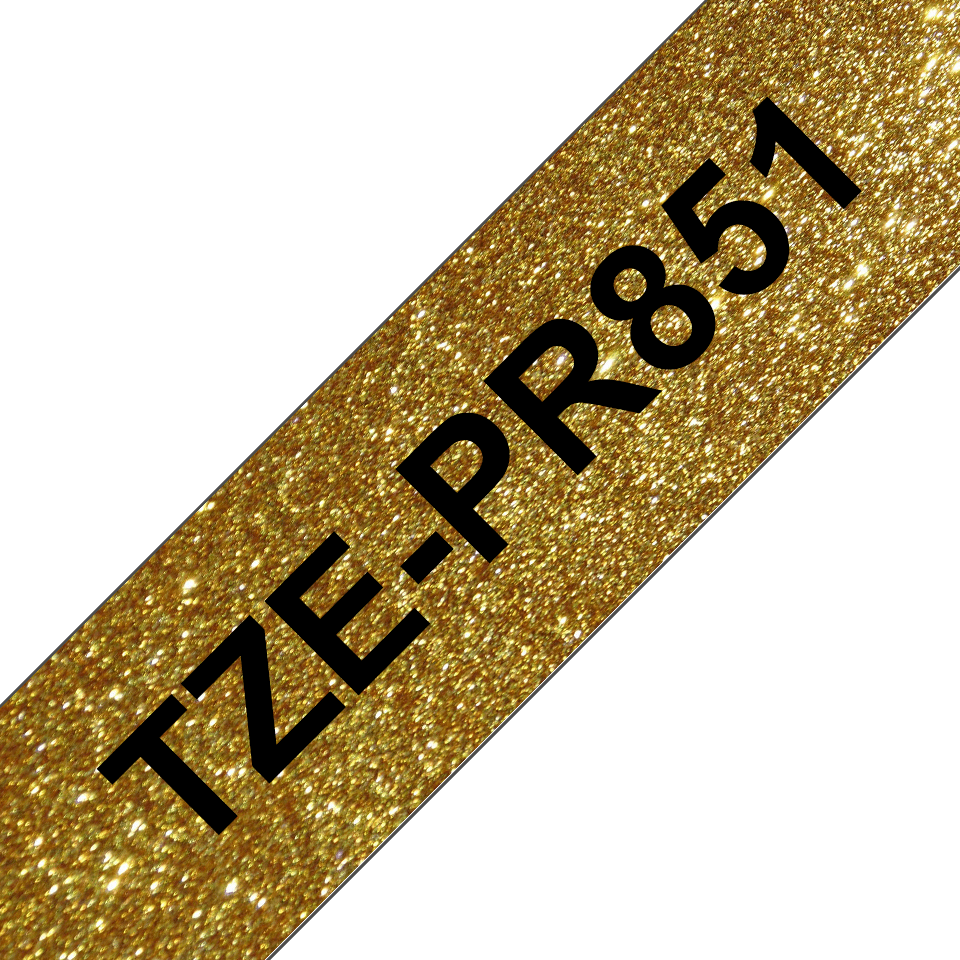 Originele Brother TZe-PR851 label tapecassette – zwart op premium goud, breedte 24 mm 3