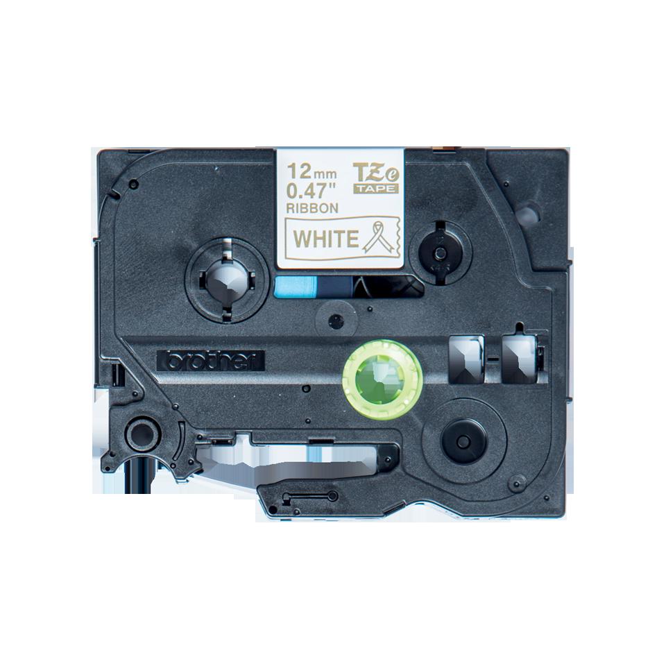 Originele Brother TZe-R234 lintcassette - goud op wit, 12 mm breed