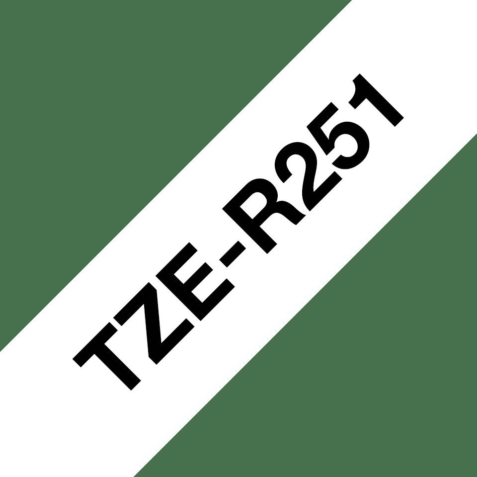 Originele Brother TZe-R251 lintcassette - zwart op wit, 24 mm breed 3