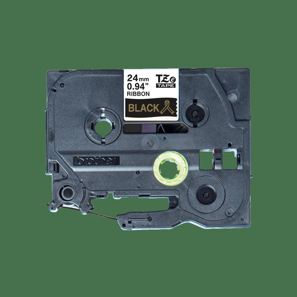 Originele Brother TZe-R354 lintcassette – goud op zwart, 24 mm breed 3