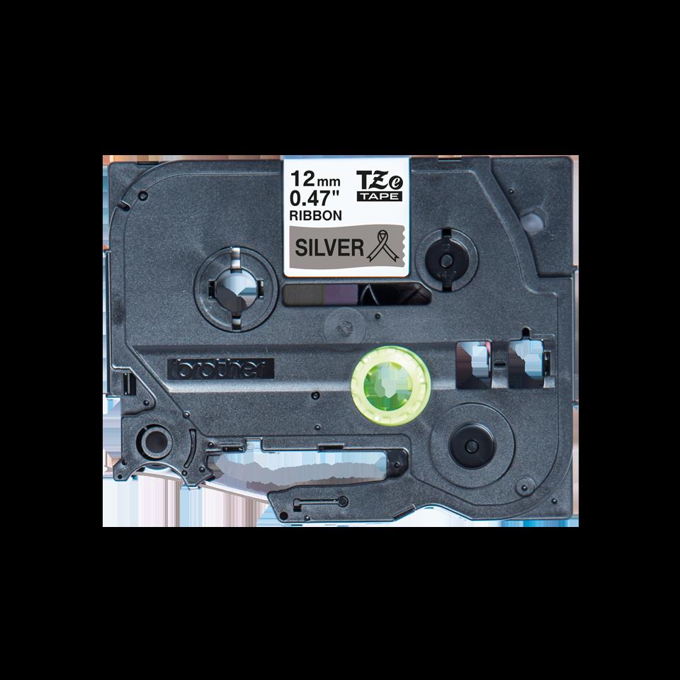 Originele Brother TZe-R931 lintcassette – zwart op zilver, 12 mm breed 2