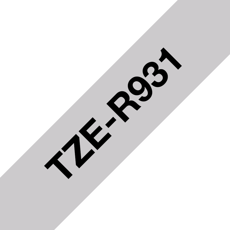 Originele Brother TZe-R931 lintcassette – zwart op zilver, 12 mm breed
