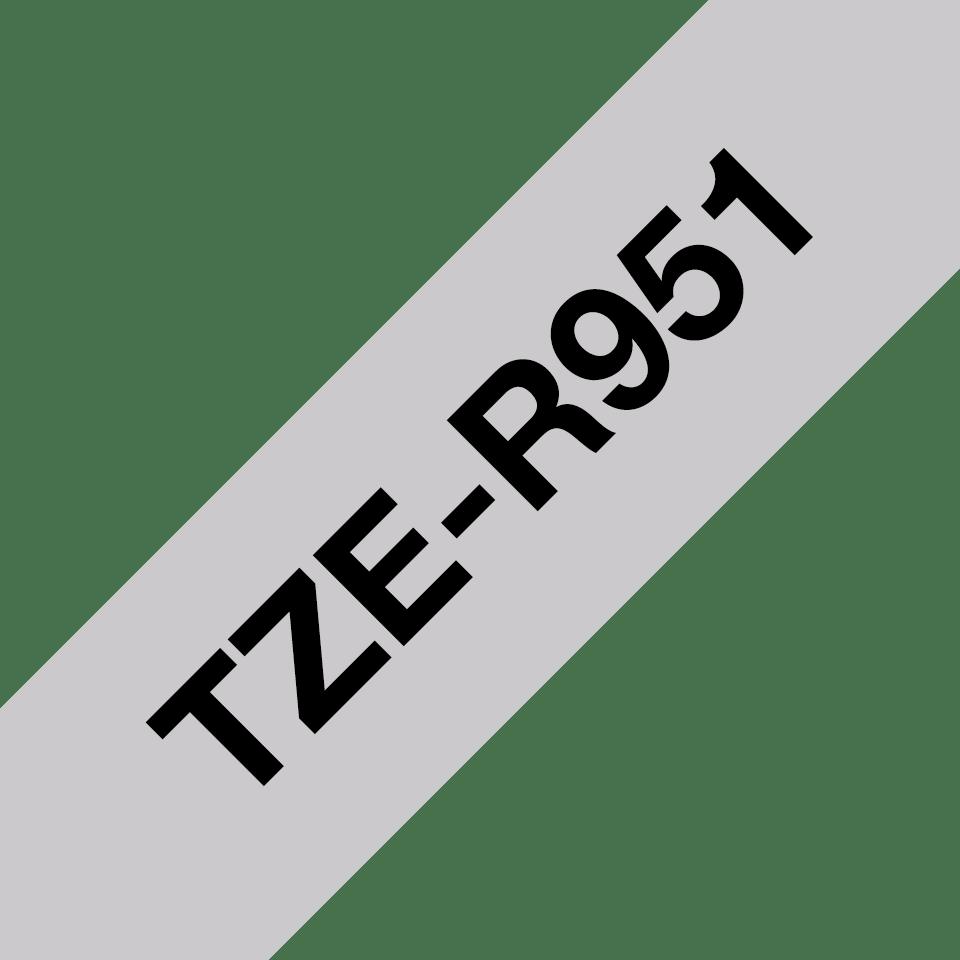 Originele Brother TZe-R951 lintcassette – zwart op zilver, 24 mm breed 3