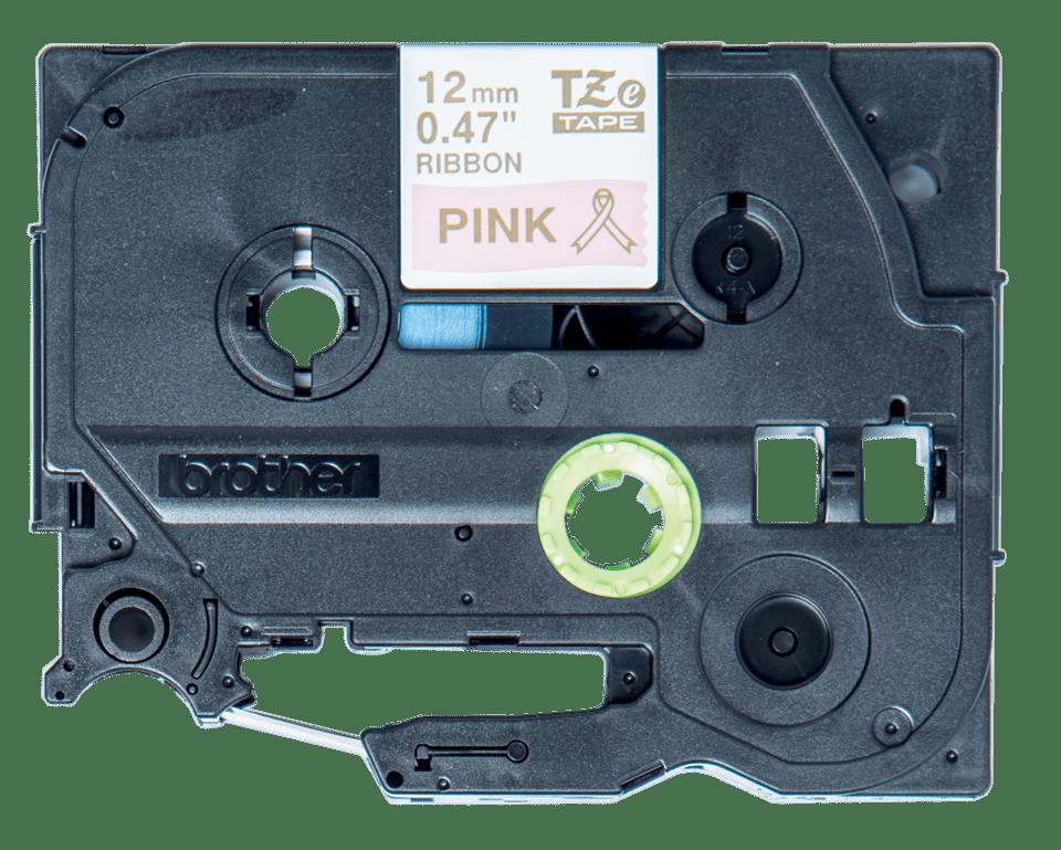 Originele Brother TZe-RE34 lintcassette - goud op roze, 12 mm breed