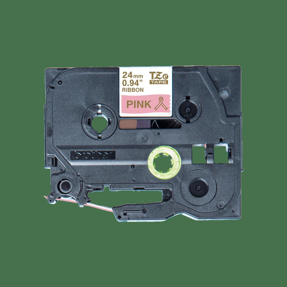 Originele Brother TZe-RE54 lintcassette – goud op roze, 24 mm breed
