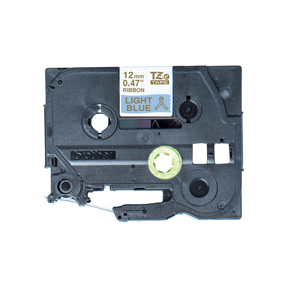 Originele Brother TZe-RL34 lintcassette – goud op lichtblauw, 12 mm breed
