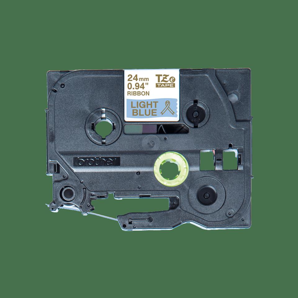 Originele Brother TZe-RL54 lintcassette – goud op lichtblauw, 24 mm breed 2