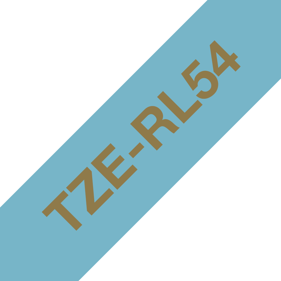 Originele Brother TZe-RL54 lintcassette – goud op lichtblauw, 24 mm breed