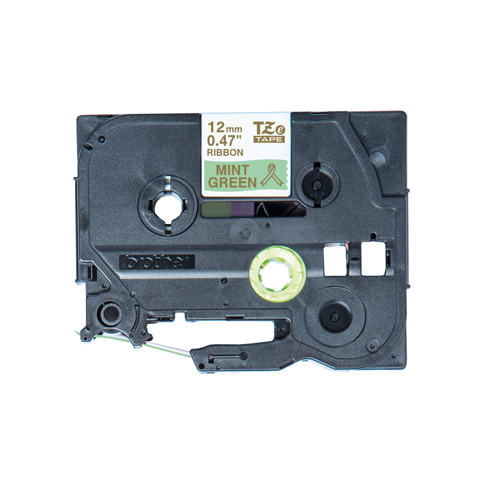 Originele Brother TZe-RM34 lintcassette – goud op mintgroen, 12 mm breed