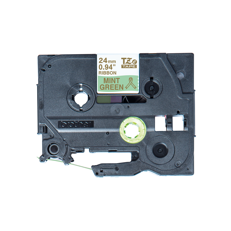 Originele Brother TZe-RM54 lintcassette – goud op mintgroen, 24 mm breed
