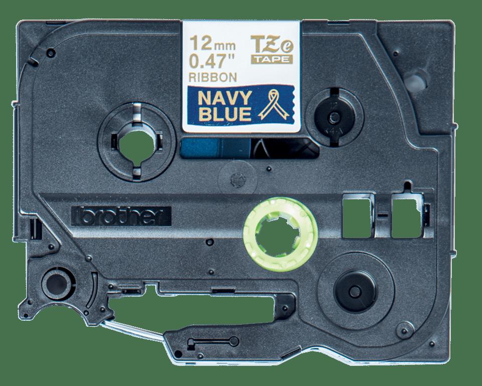 Originele Brother TZe-RN34 lintcassette - goud op marineblauw, 12 mm breed 2