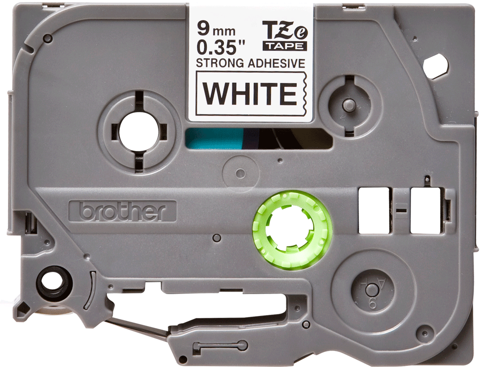 Originele Brother TZe-S221 sterk klevende label tapecassette - zwart op wit, breedte 9 mm 2