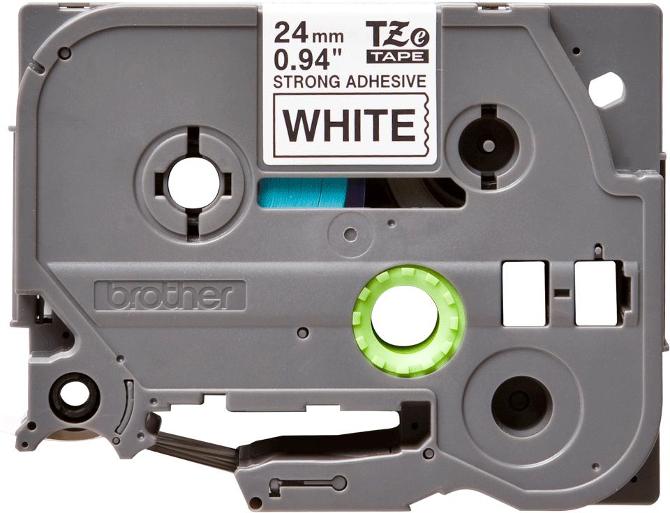 Originele Brother TZe-S251 tapecassette – zwart op wit, breedte 24 mm  2
