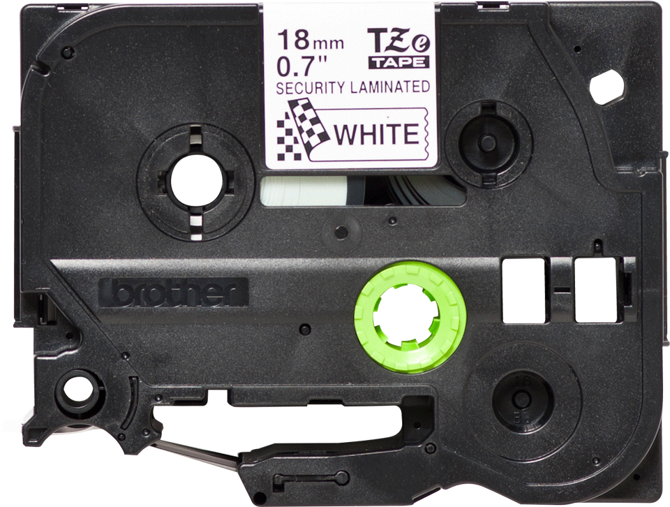 Originele Brother TZe-SE4 tapecassette – zwart op wit, breedte 18 mm 3